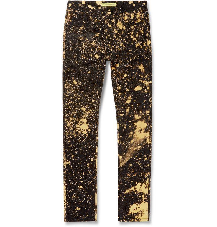 Raf Simons - Bleached Slim-Fit Denim Jeans|MR PORTER