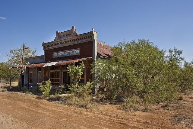 Old, abandoned general store in Valentine, Texas.