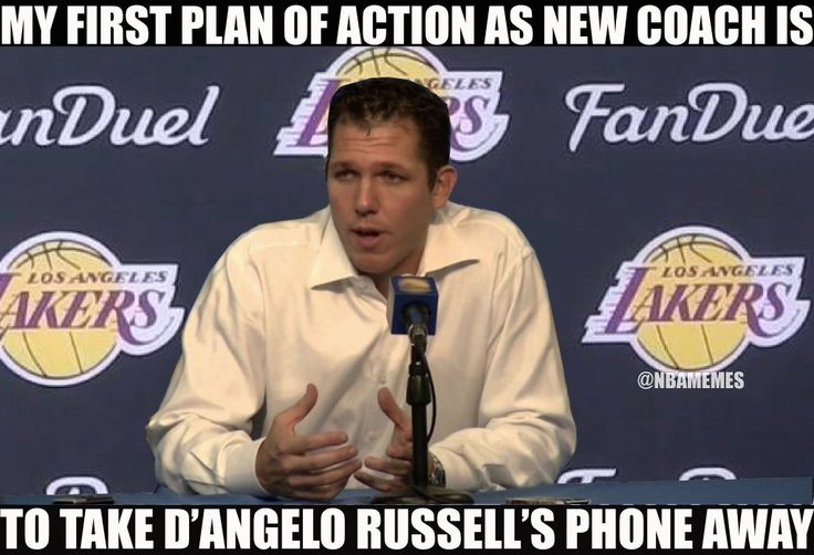 RT @NBAMemes: Luke Waltons erste Trainerentscheidung für Lakers. – nbafunnymeme.com / ….   – Funny pictures