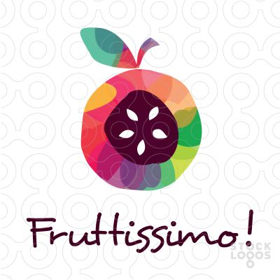 Interesting and fun design for the Fruttissimo Fruit logo