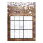 Rustic Bridal Shower Bingo Game Lavender Card #weddinginspiration #wedding #weddinginvitions #weddingideas #bride