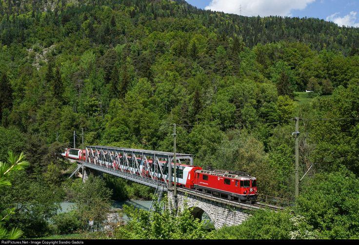 Ge 4/4 II # 631 with Clacier Express 900 near Reichenau-Tamins.