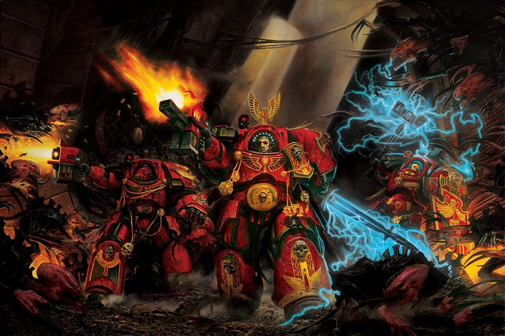 Blood angels purge the Xenos