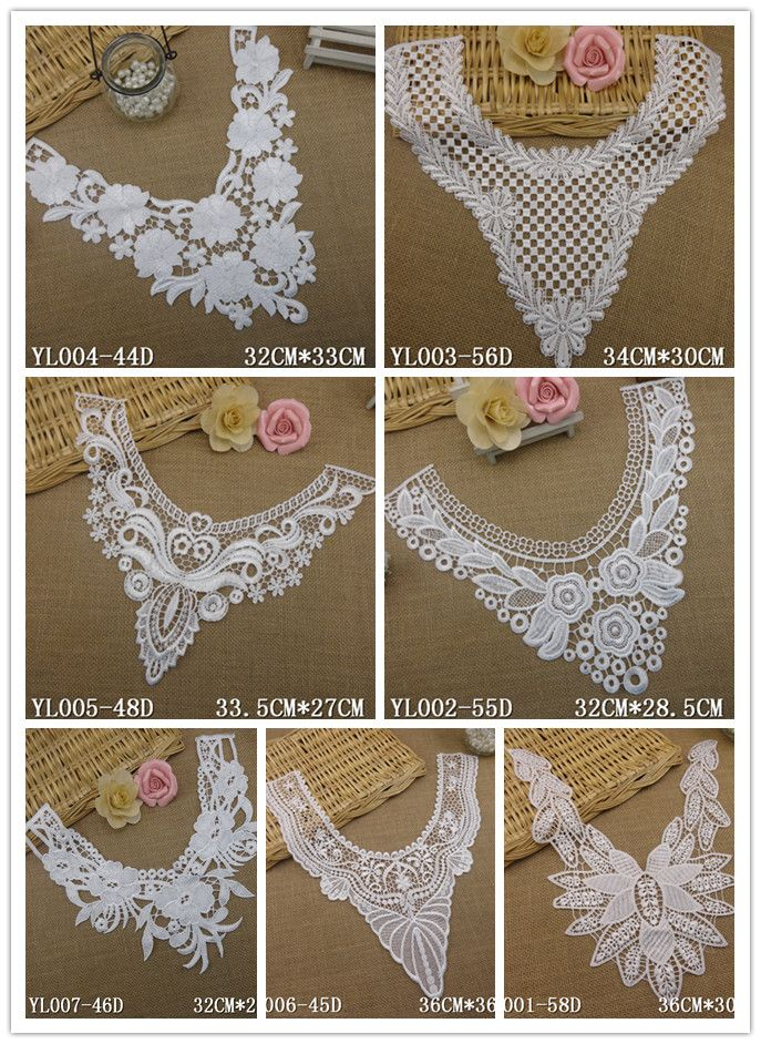1pcs White Embroidered Lace Polyester Flower Lace Neckline Collar Applique Motif Patches Scrapbooking Sewing Accessories #>=#>=#>=#>=#> Click on the pin to check out discount price, color, size, shipping, etc. Save and like it!