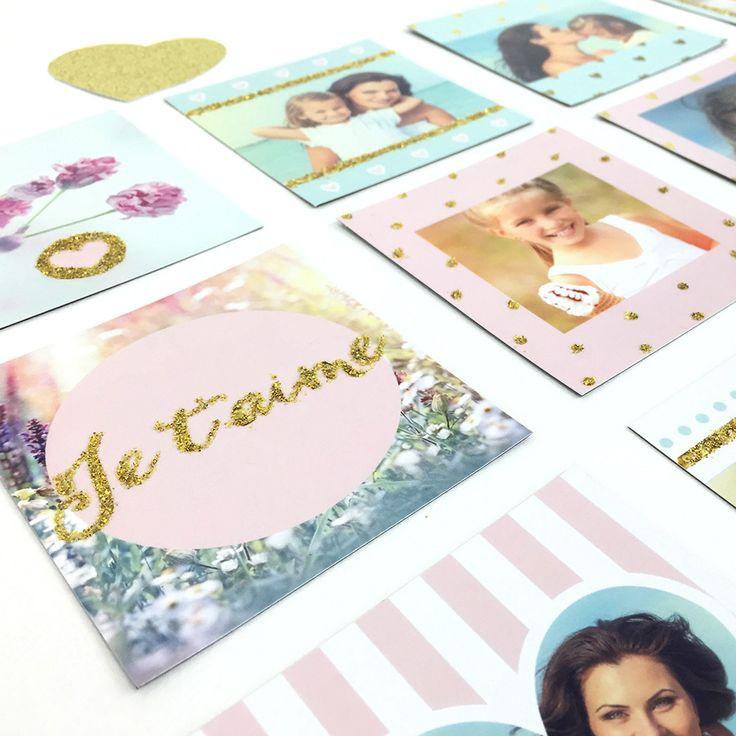 Des magnets parsemés de paillettes pour offrir à votre maman, ne cherchez plus nous avons trouvé le cadeau parfait pour la fête des mères.