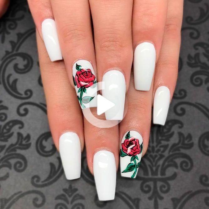 30 Trendy White Acrylic Nails Designs In 2020 White Acrylic Nails White Nail Designs Matte Nails Design