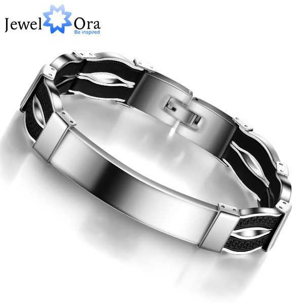 Fashion Steel Man Bracelet Casual 304L Stainless Steel Bracelet For Man (JewelOra BA101126)