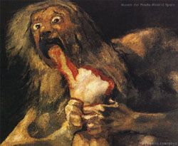 Francisco Goya's painting Saturn Devouring his Son. Its so powerful! I cant help but love.