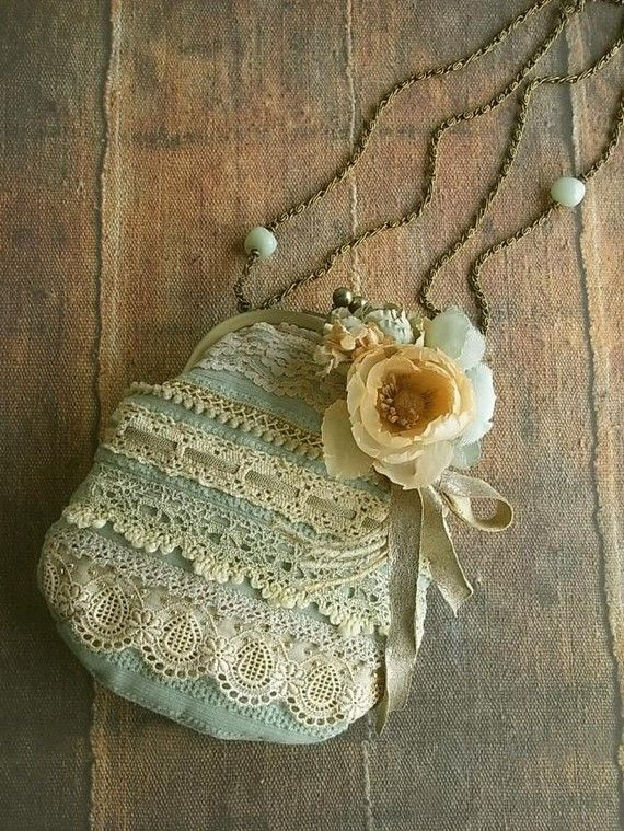 Shabby chic lace purse