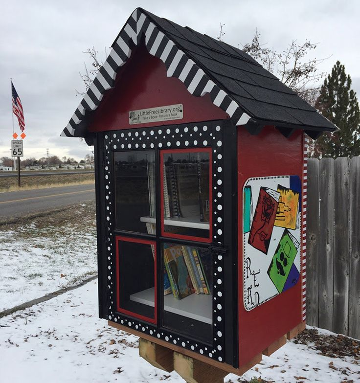 Access Controlled Storage. Idaho Falls, ID. Our Little Free Library started with Aimee's door. Tyler gave it a roof. Bob gave it a floor. Mandy painted the sides, the front, and the back. Kittie gathered books, high to stack. Savannah observed and had a little snack. We did this for us, for them, and for you. Come look at our books. It's a beautiful view. Take a book, or leave a book, or do both that's fine. Just READ, and expand your mind.