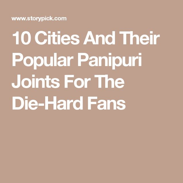 10 Cities And Their Popular Panipuri Joints For The Die-Hard Fans
