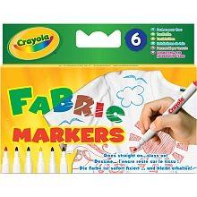 Crayola - 6 Textilstifte