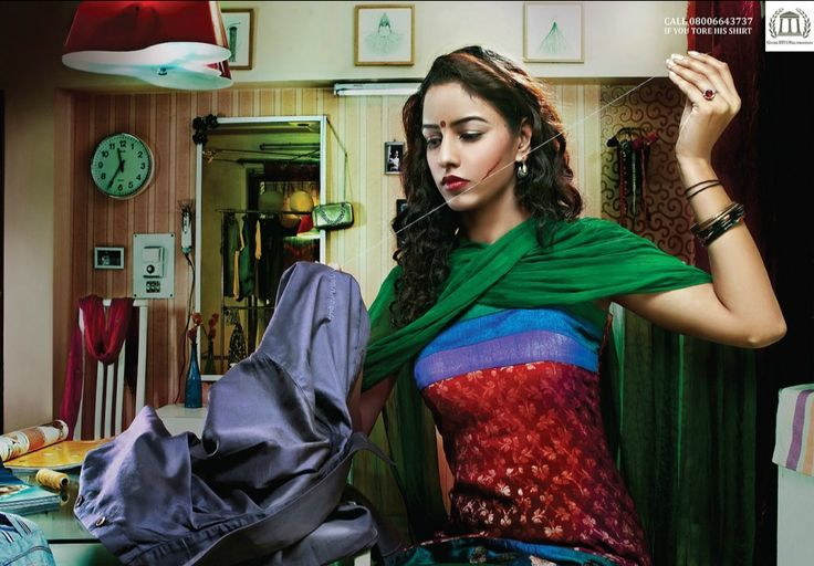 """#WomensDay #Domestic #Violence #ad """"Call 08006643737 if you tore his shirt."""" for the Gates ETH Foundation - Cheil India"""