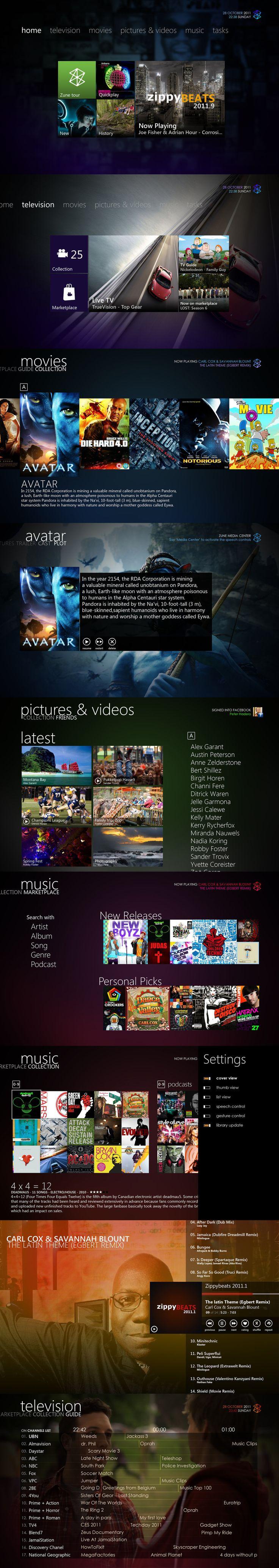 Zune Media Center 3.1 by ~Bonkietje on deviantART