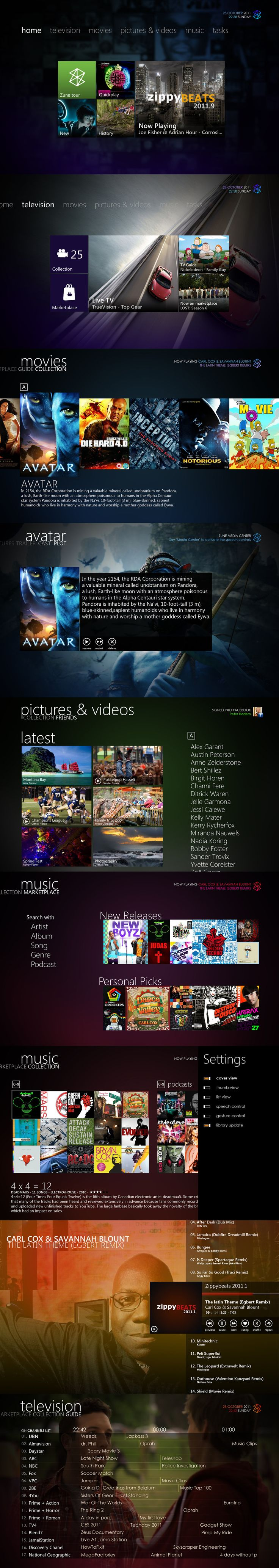 Zune Media Center 3.1 by ~Bonkietje on deviantART