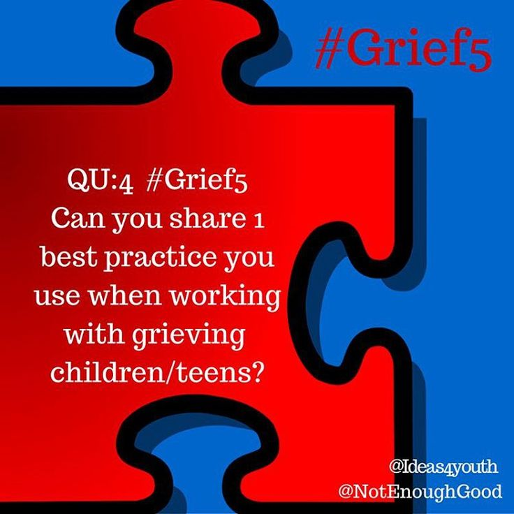 QU:4 #Grief5 Can you share one #bestpractice you use when working with a grieving #child #teen?  #youthleader #mentor #military #deployment #fostercare #death #divorce #incarceration #youthprograms #teacher #educator #fostermom #pastor #counselor #leader #motivator #reintegration #militarykids #militaryfamily #cgad #childrensgriefawarenessday #grief #loss #mentalhealth #practitioner