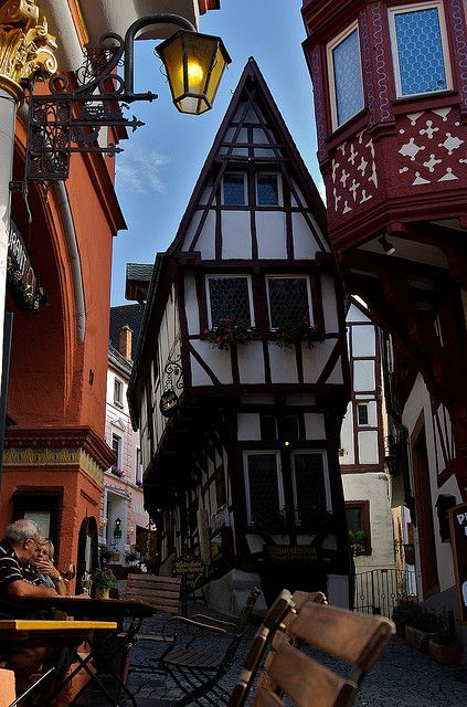 Medieval House, Bernkastel-Kues a wine growing town situated on the river Moselle, Rhineland-Palatinate, Germany