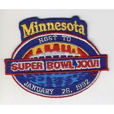 """NFL Super Bowl XXVI 3 3/4"""" Embroidered Iron-on Patch"""