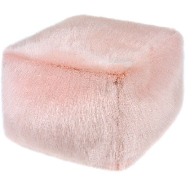 Helen Moore Cube Pouf - Dusky (€280) ❤ liked on Polyvore featuring home, furniture, ottomans, ottoman, stool, pink, cube footstool, pink furniture, cube ottoman and cube furniture