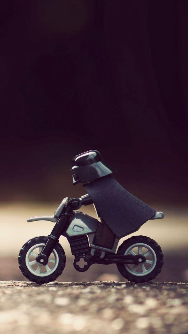 Darth Vader Motorcycle Star Wars LEGO iPhone 5 Wallpaper