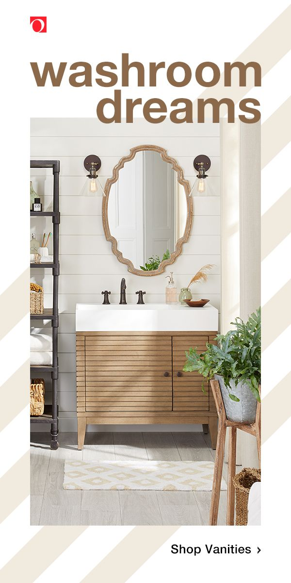 Shop Bathroom Vanities From Overstock To Give Your Bathroom A Fresh Stylish Update Without Breaking T With Images Shabby Chic Bathroom Primitive Bathrooms Bathroom Vanity