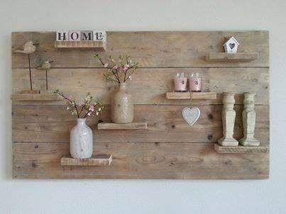 Wandbord steigerhout