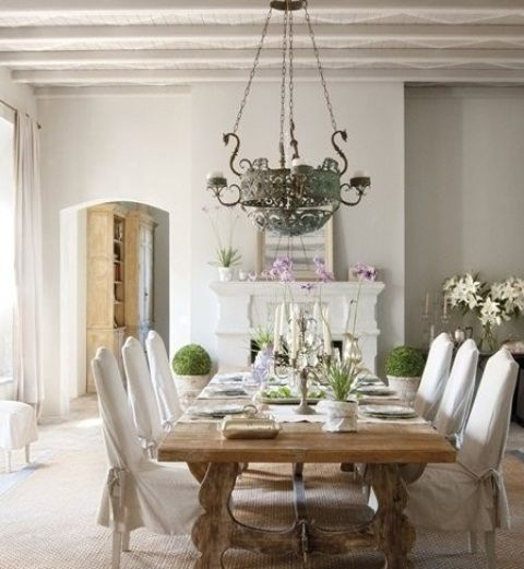 44 Awesome Feminine Dining Room Design Ideas : 44 Elegant Feminine Dining  Room Design Ideas With White Wall Window Curtain Cupboard Chandelier And  Dining ...