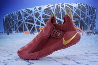52db34c91ca3d Nike LeBron Ambassador 11 LBJ Burgundy Gold Men s Basketball Shoes. Find  this Pin and ...