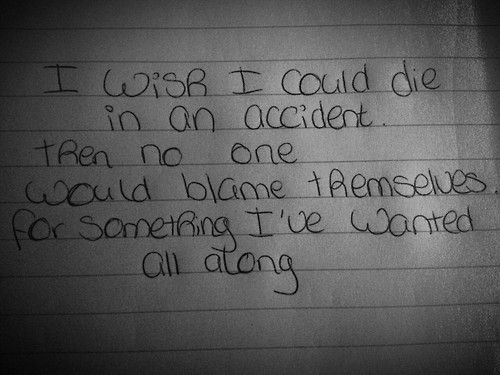 yet... I want some people to blame themselves for hurting me bad enough for me to hate myself this much