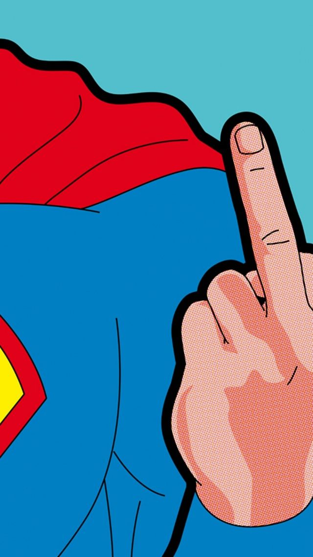 Bad Superman. Tap to see more retro style wallpapers, backgrounds, fondos for iPhone, & Android! - @mobile9