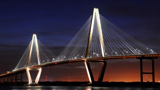 Ravanel Bridge in Charleston,SC ~ Had a great training run on this bridge last year. Hope to train on it again for this year's Country Music Half Marathon!