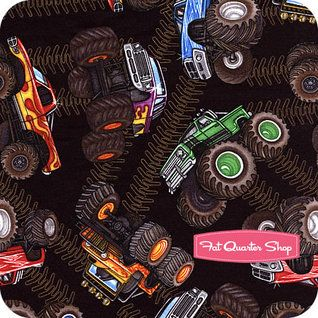 22 best images about boy 39 s tractor and monster truck for Monster truck fabric