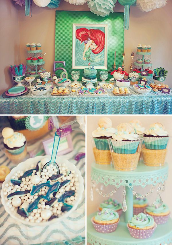{DIYed} Ariel Themed Little Mermaid Birthday Party- SR Edit- If I had a little girl, I'd totally do this!