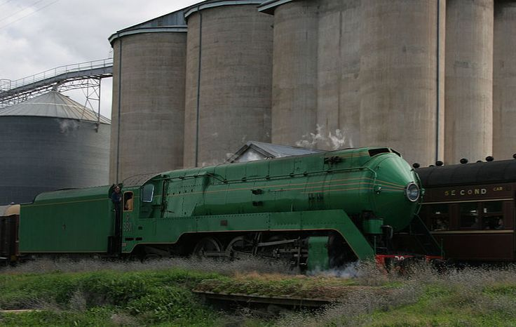 The 3801 Steam Locomotive in the Riverina, New South Wales, Australia by Ricky Edwards