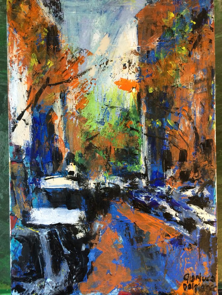 W 71st street. New York 2015. Acrylics and oil on canvas. cm. 40x60 Paintings by Gianluca Dal Bianco