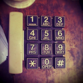 An awsome classic phone i found at trottoart cafe, Bandung, Indonesia