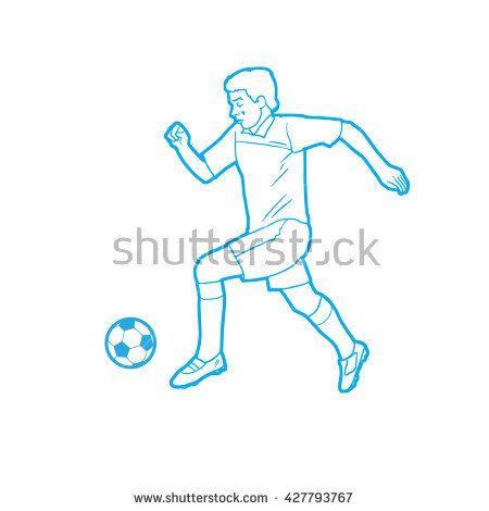 Football Soccer player with ball. Football runner, american football player, soccer player, Europe football, football helmet, football player isolated, soccer, European Championship league player