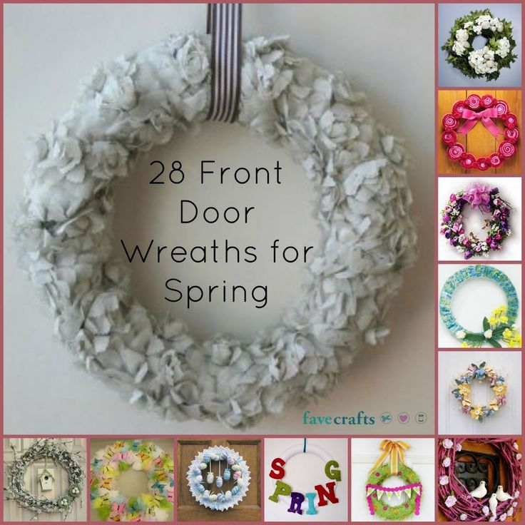 24 Decorative Front Door Wreaths for Spring  - Add some DIY crafts to your door and welcome guests the right way.