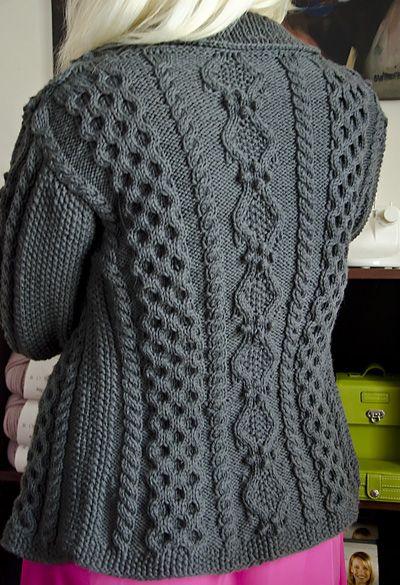 Ruth aran cardigan (Ethnic Knitting Adventures): Knitty Winter 2012 ... the new Knitty is up! The new Knitty is up!!