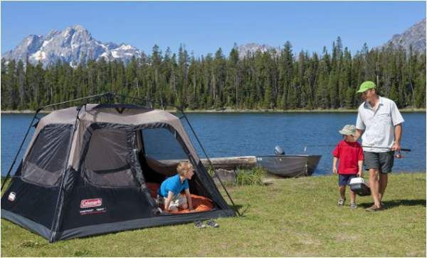 coleman 1 minute tent 4 person