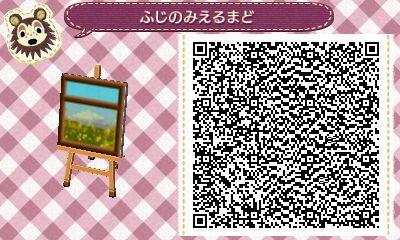Window in Springtime Animal Crossing New Leaf QR