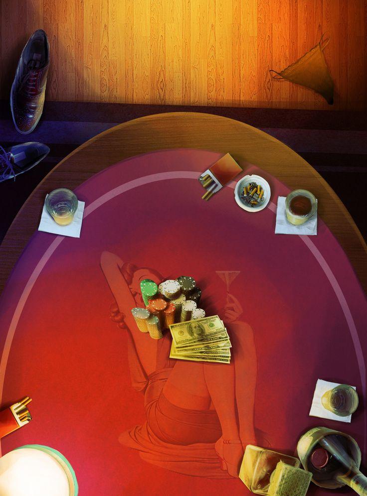 Roaring 50's Poker Table (BBP)