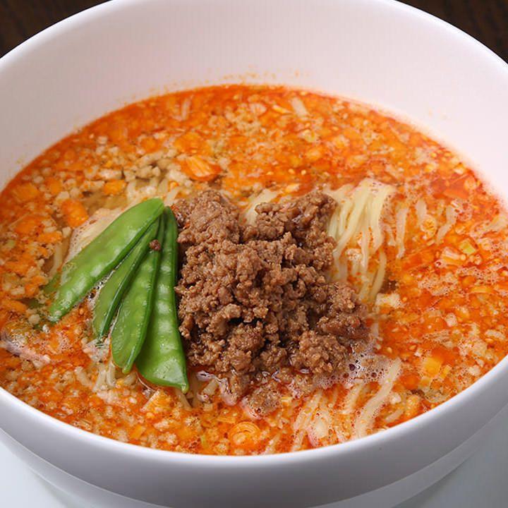 担々麺は、胡麻、ラー油、お酢のバランスが味の決め手!!