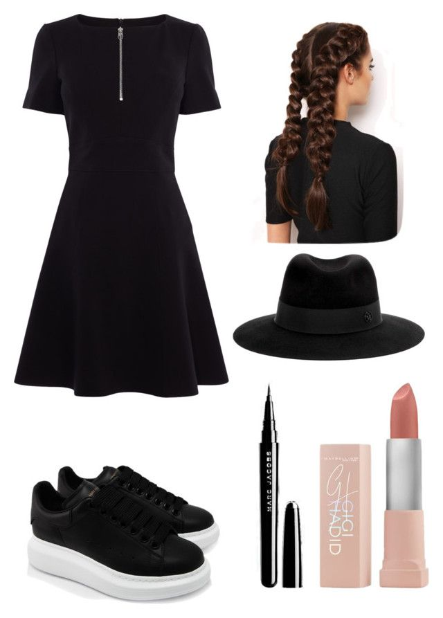 """""""Simple and cute"""" by utkonos on Polyvore featuring Karen Millen, Alexander McQueen, LullaBellz, Maison Michel and Maybelline"""
