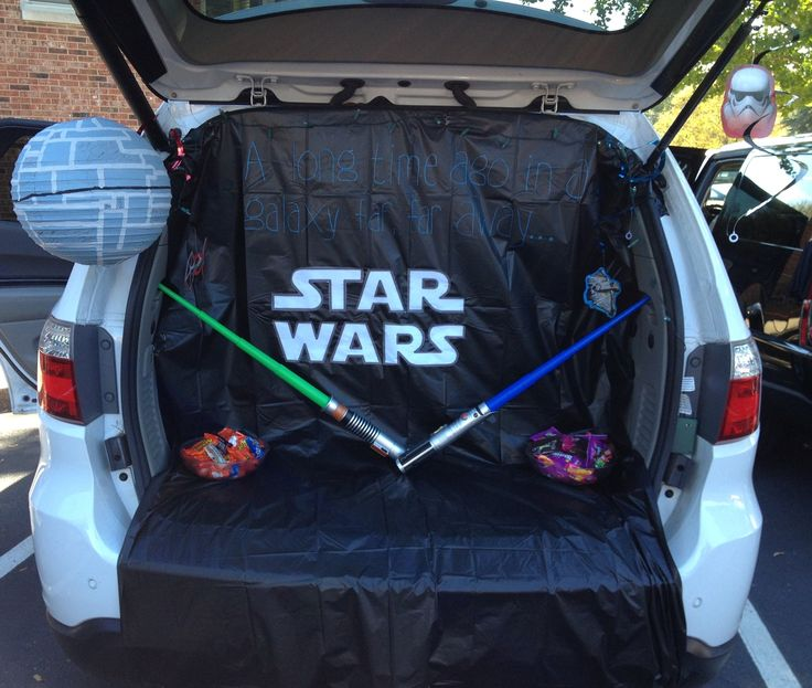 star wars trunk and treat with death star