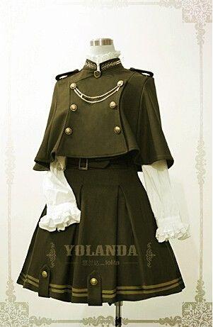 ✦The Last Time Reminder✦: Yolanda Uniform Style Velvet Lolita Cape + Skirt Set Pre-order ✦WILL END IN ABOUT 8 HOURS LATER✦  >>> http://www.my-lolita-dress.com/yolanda-uniform-style-velvet-lolita-outfit-with-cape-yo-002 [✦NO RESTOCK PLAN✦]
