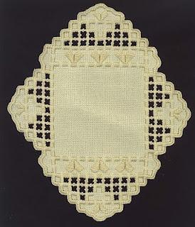 Cream hardanger Embroidery