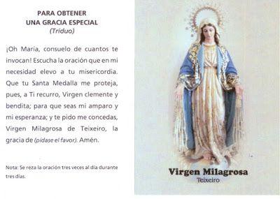 oracion a la milagrosa | oraci n a la virgen milagrosa de teixeiro