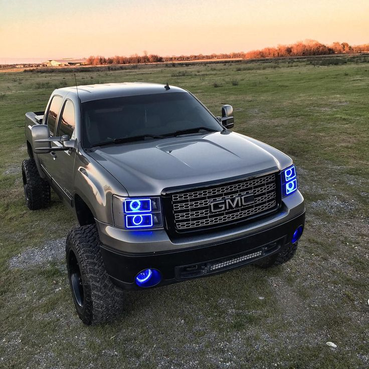 Custom GMC Sierra with a lift