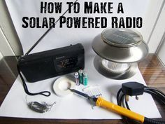 How To Make a Solar Powered Radio - There are many practical uses for solar power energy that is portable, particularly when SHTF. Building a DIY solar powered radio is not difficult, and it's an extremely useful item to have on hand in the event of a disaster. And no batteries required!